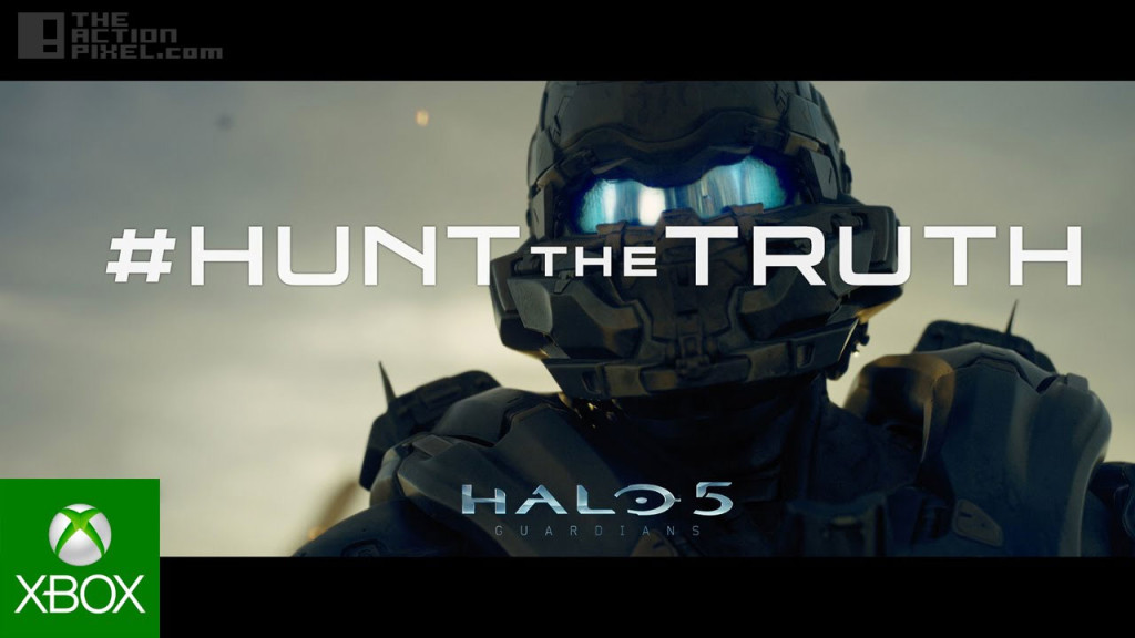 halo 5 Guardian. hunt the truth. the action pixel @theactionpixel. 343 industries. xbox.