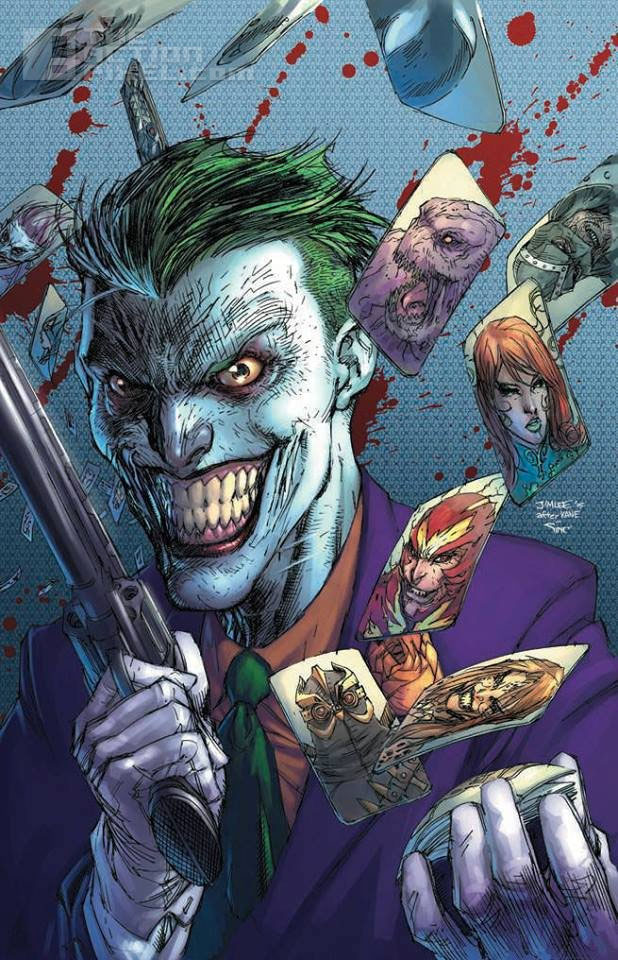 joker variant 75 anniversary cover. dc comics. jim lee. the action pixel @theactionpixel