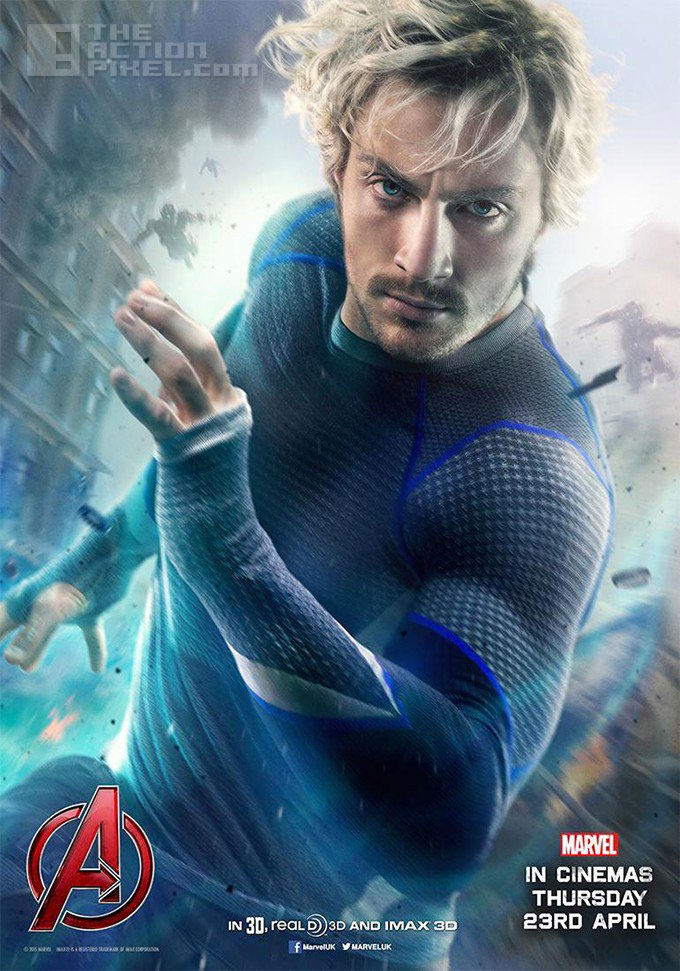 quicksilver (Aaron Taylor-Johnson) individual poster. Marvel. Avengers: Age of ultron.  the action pixel. @theactionpixel
