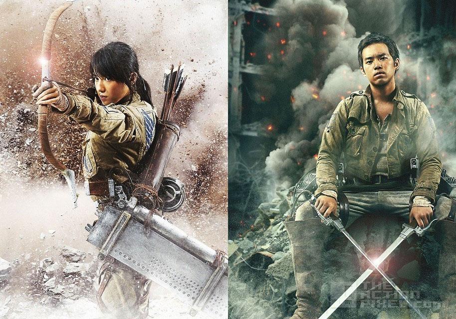 Nanami Sakuraba as Sasha + Takahiro Miura as Jean. attack on titan. @theactionpixel the action pixel