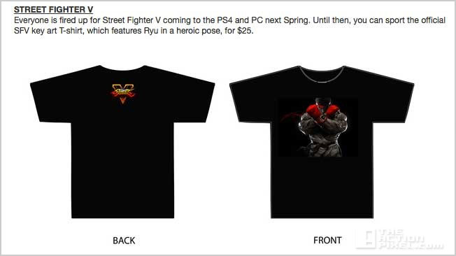 street fighter v tshirt merch. the action pixel. @theactionpixel