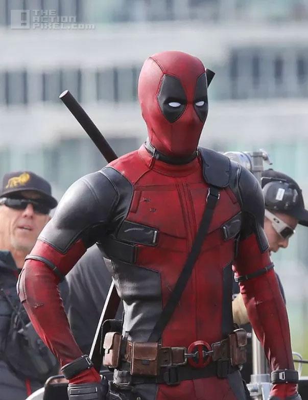 Deadpool on set. the action pixel.@theacionpixel. fox. marvel. the action pixel. @theactionpixel