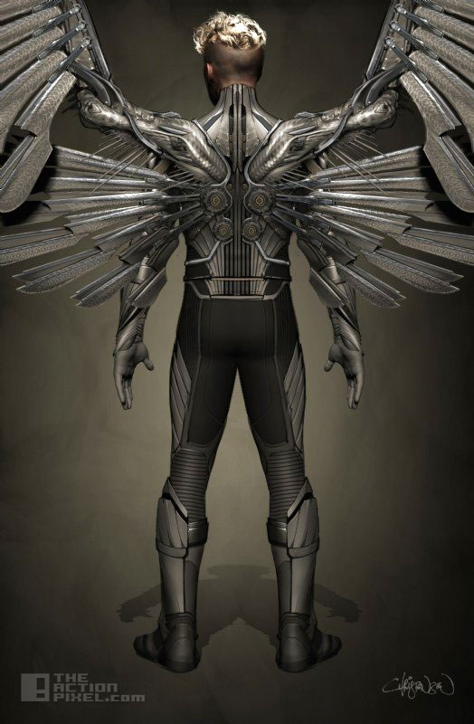 angel concept art. xmen apocalypse. fox. marvel. the action pixel. @theactionpixel