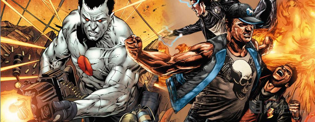 bloodshot and Harbinger. Valiant comics. the action pixel. @theactionpixel