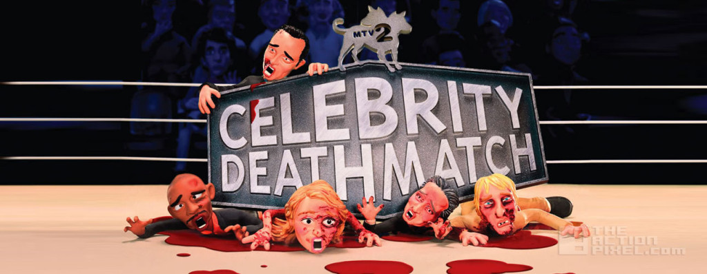celebrity deathmatch. mtv2 the action pixel @theactionpixel
