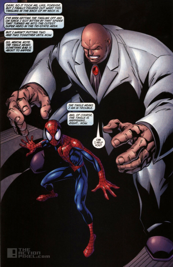 kingpin vs Spiderman. marvel. the action pixel . @theactionpixel