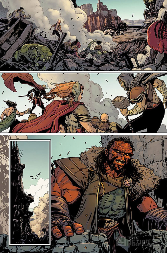 planet hulk page 2. secret wars. marvel. the action pixel. @theactionpixel