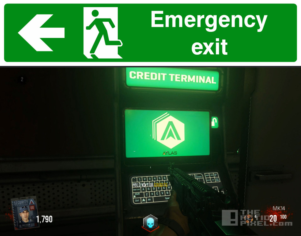 EXIT emergency sign / COD AW. the action pixel . @theactionpixel