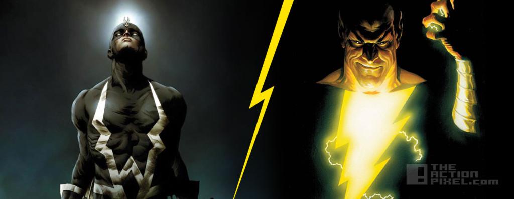black bolt V black adam. marvel. dc comics. shazam!. inhumans. captain marvel. the action pixel. @theactionpixel