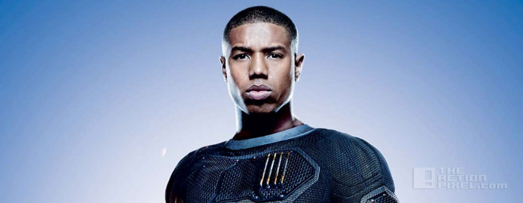 michael b. Jordan as the human torch / johnny storm in fantastic four. the action pixel. @thectionpixel . marvel. 20th century fox