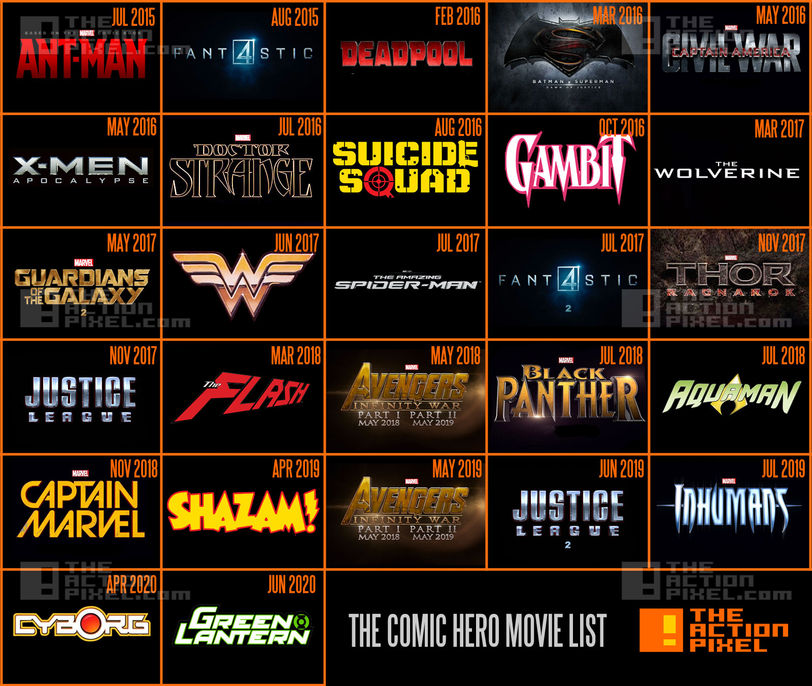 marvel film releases 2015