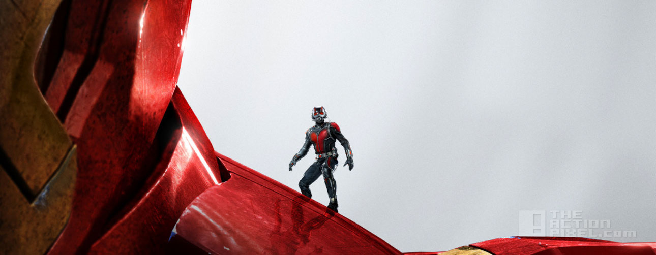 Ant-Man Iron Man poster. ant-man. marvel. the action pixel. @theactionpixel.