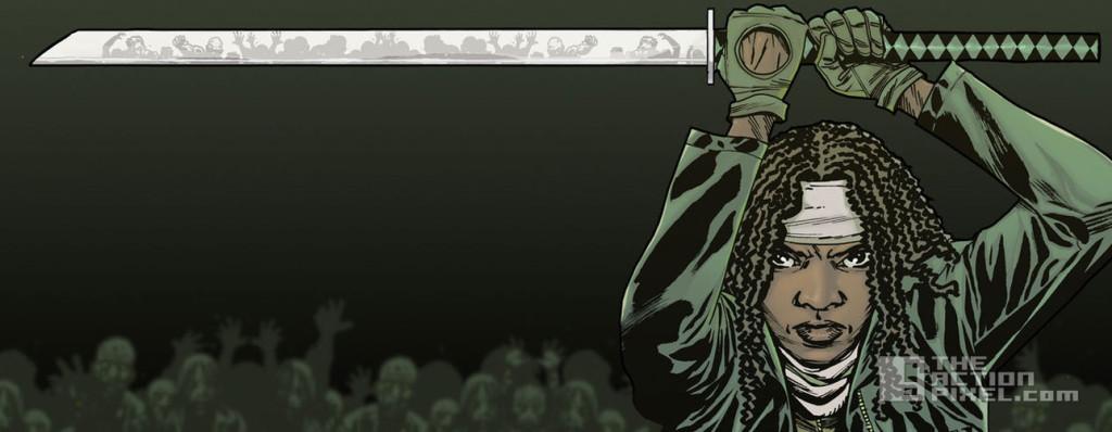 michonne. the walking dead. the action pixel. @theactionpixel