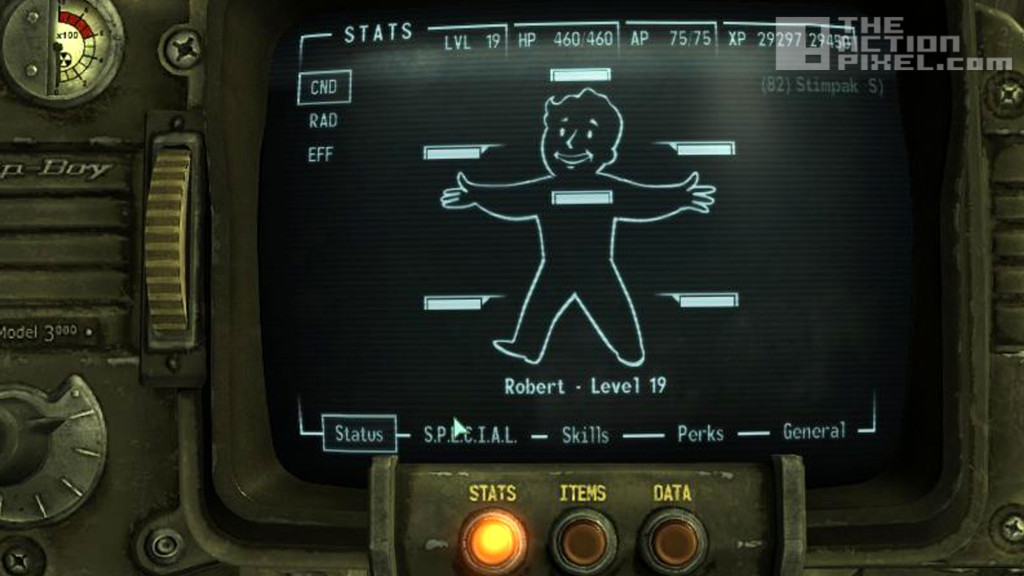 pipboy fallout. bethesda. the action pixel. @theactionpixel