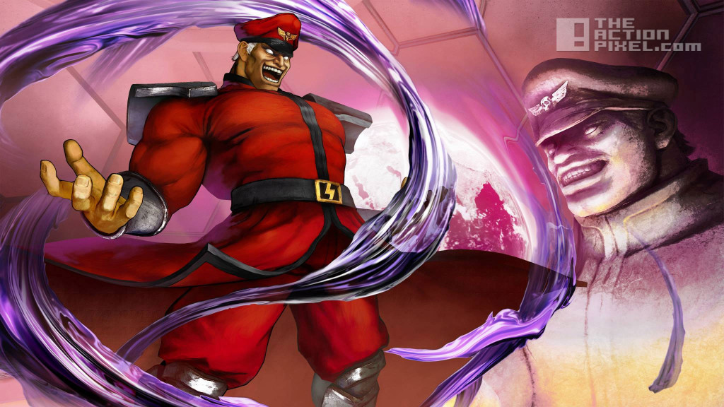street fighter v. m bison. capcom. the action pixel. @theactionpixel