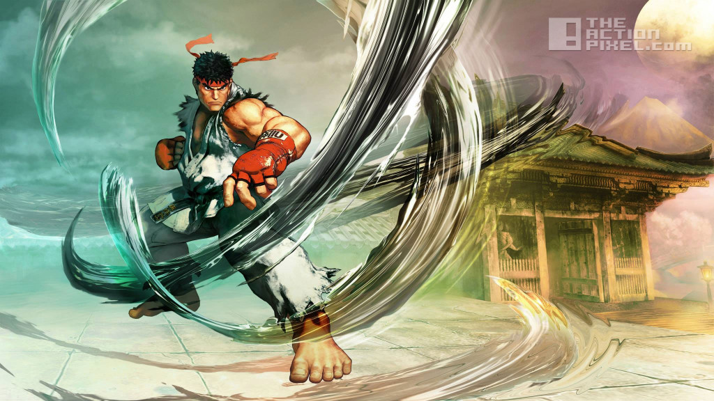 street fighter v. ryu. capcom. the action pixel. @theactionpixel