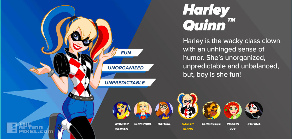 dc super hero girls Harley Quinn. the action pixel. @theactionpixel. DC Comics