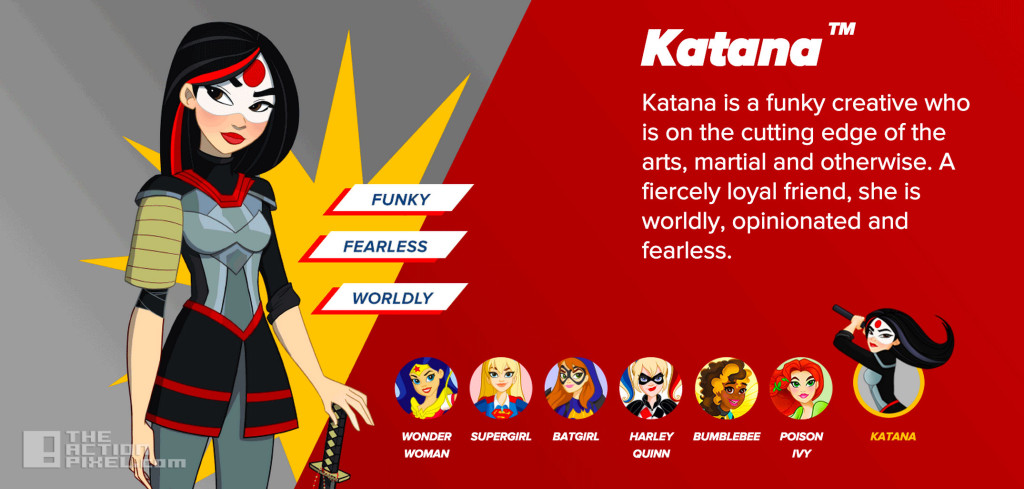 dc super hero girls Katana. the action pixel. @theactionpixel. DC Comics