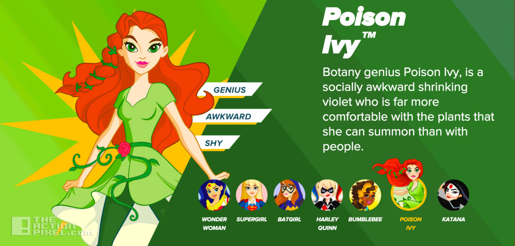 dc super hero girls Poison Ivy. the action pixel. @theactionpixel. DC Comics