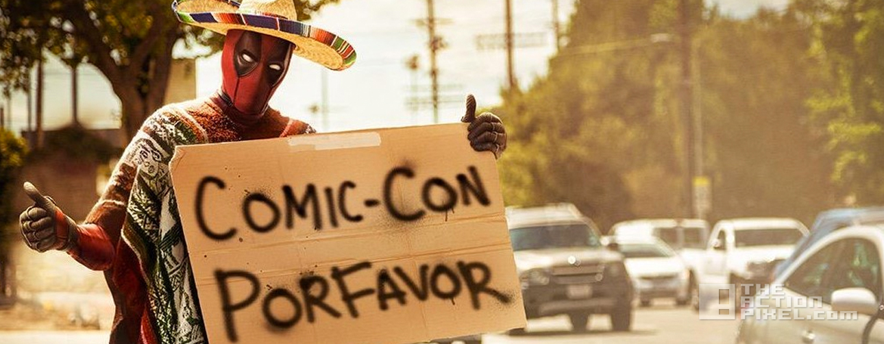 deadpool. 20th century fox. marvel, the action pixel. @theactionpixel. comic con por favor