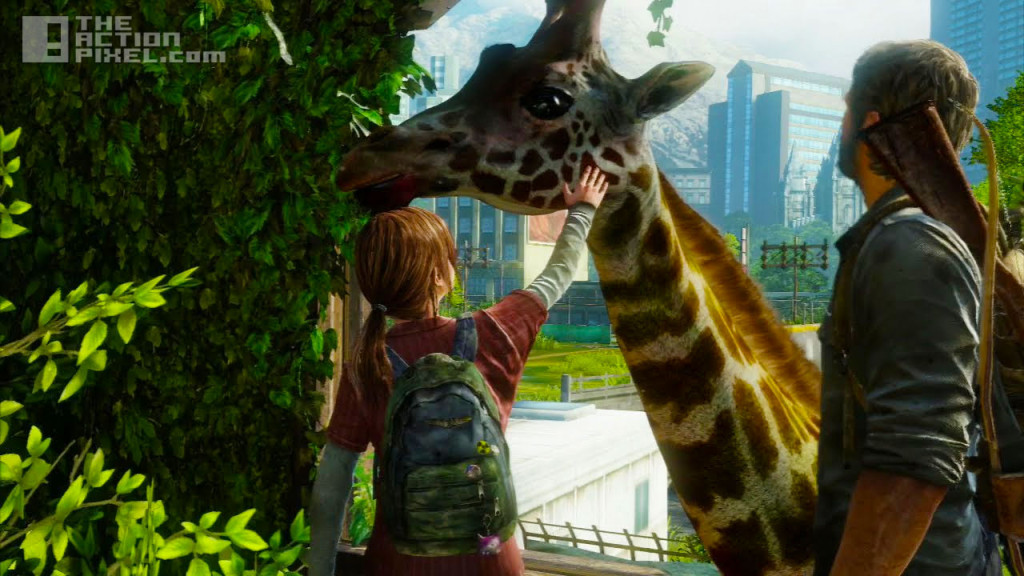 last of us. giraffe. naughty dog. the action pixel. @theactionpixel
