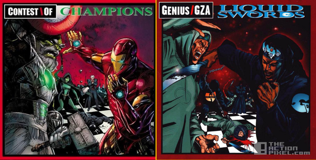 Contest of Champions #1 by Denys Cowan & Bill Sienkiewicz (based on GZA's Liquid Swords) the action pixel. @theactionpixel