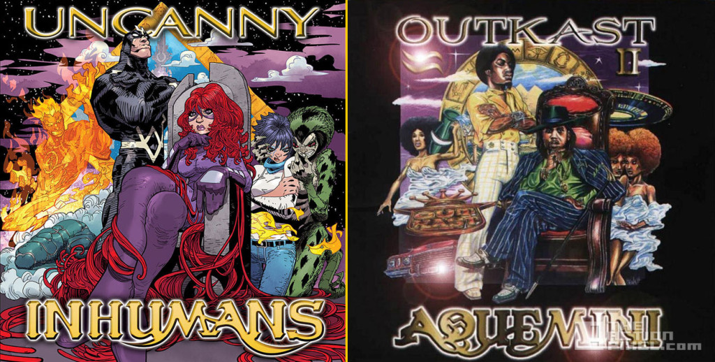 Uncanny Inhumans #1 Based on Outkast's Aquemini Art by Damion Scott the action pixel. @theactionpixel