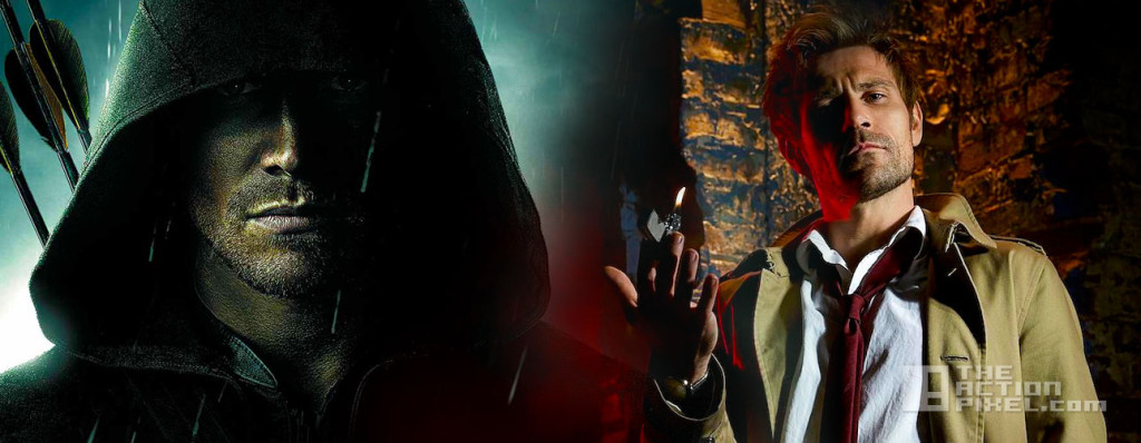 arrow and Constantine. dc comics. the cw. nbs. the action pixel. @theactionpixel