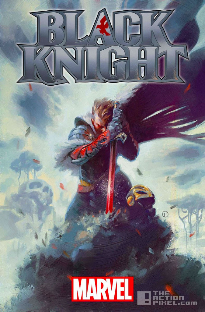 black knight Banner. the action pixel. @theactionpixel. mARVEL.