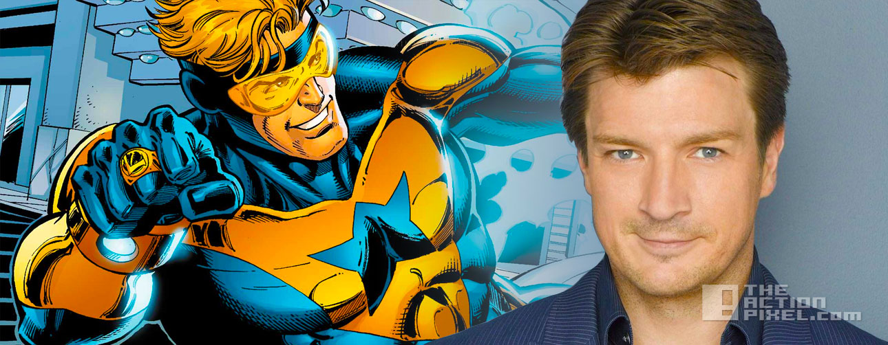 nathan fillion as booster gold? the action pixel. @theactionpixel