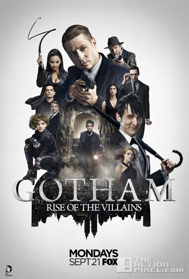 gotham Rise of the villains. poster. the action pixel. @theactionpixel
