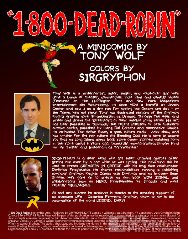 1-800-deadrobin. tony wolf. sirgryphon. the action pixel. @theactionpixel