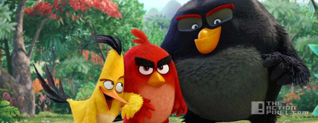 the angry bird movie. The action pixel. rivio. @theactionpixel. sony.