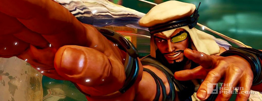 rashid. street fighter v. capcom. the action pixel. @theactionpixel
