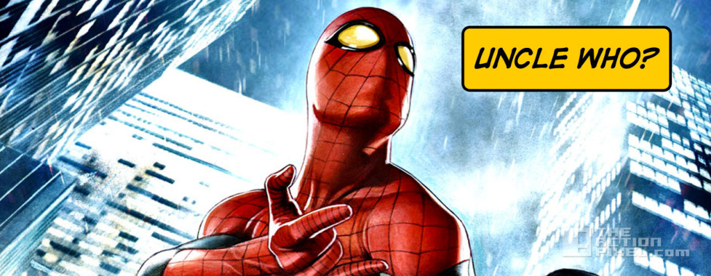 spiderman uncle who uncle ben. marvel. the action pixel. entertainment on tap