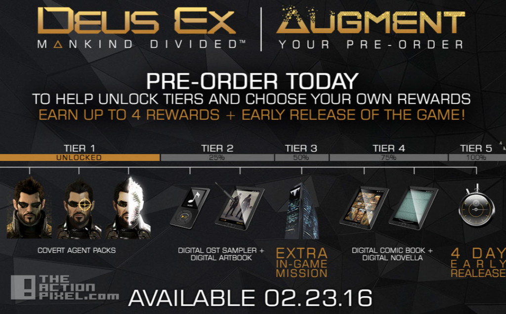 augment your pre-order. deus ex, mankind divided. the action pixel. @theactionpixel