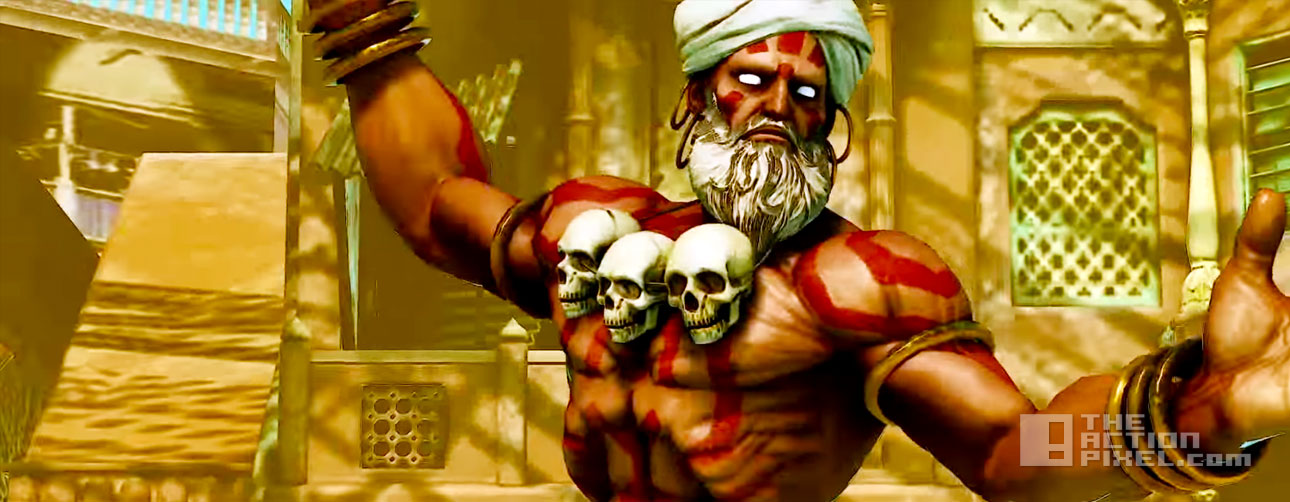 dhalsim. street fighter v. capcom. the action pixel. @theactionpixel