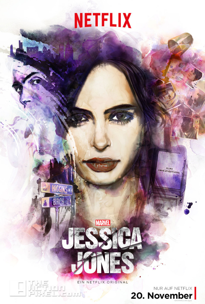 jessica jones key poster. the action pixel. marvel. netflix. @theactionpixel.