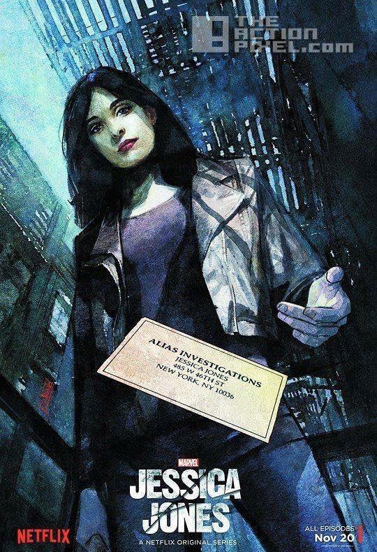 jessica jones poster nycc. marvel. netflix. the action pixel. @theactionpixel