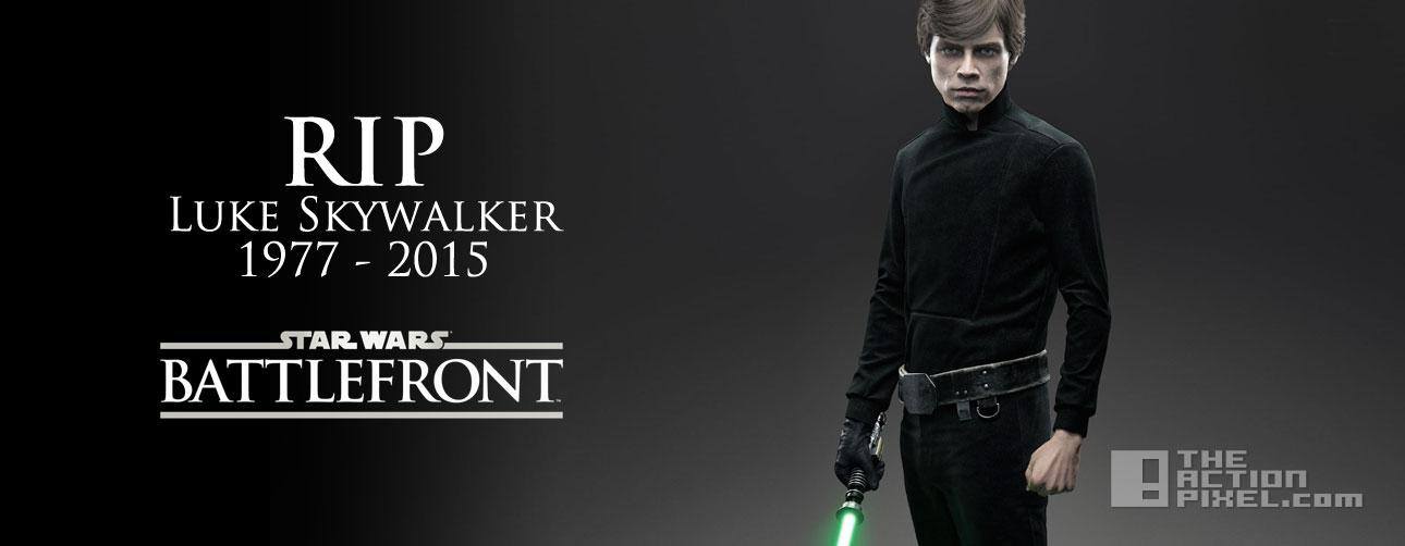 luke skywalker rip. star wars Battlefront. entertainment on tap. @theactionpixel. the action pixel. ea, lucasfilm
