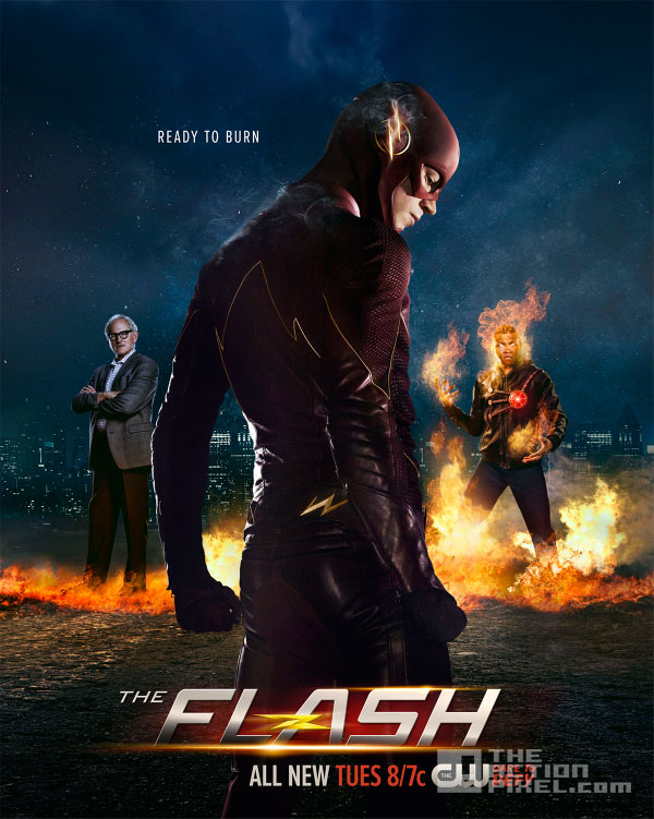 the flash 'ready to burn' poster. the cw network. the action pixel.