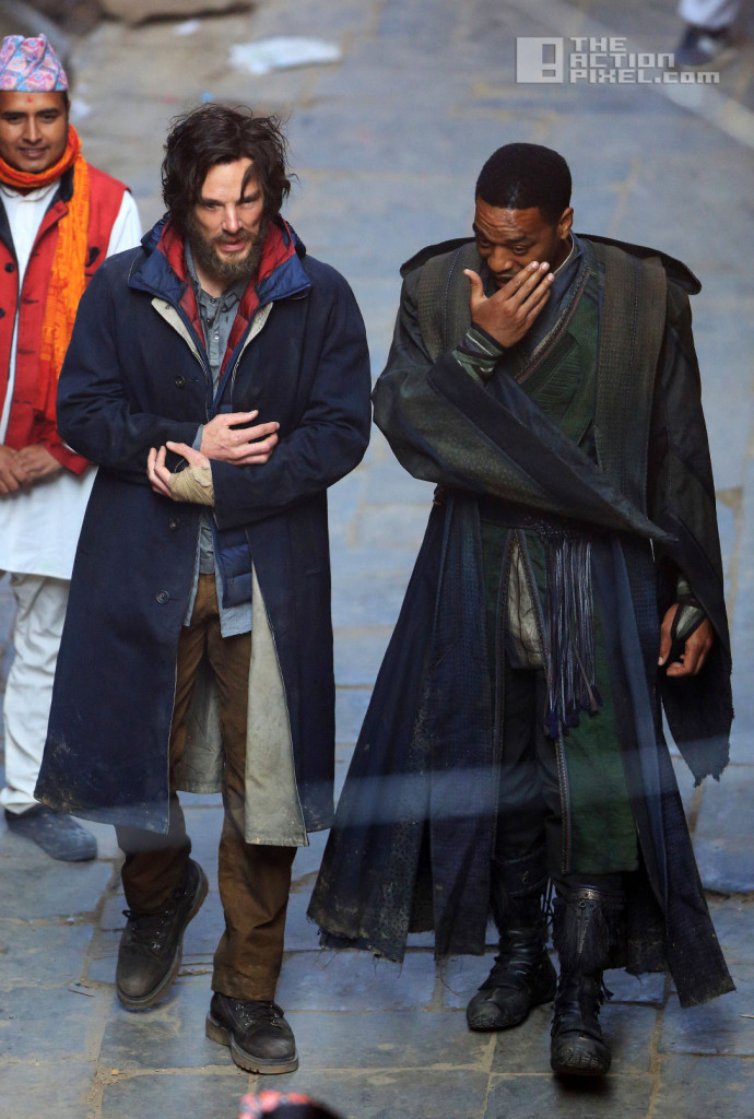 DOCTOR STRANGE SET. BENEDICT CUMBERBATCH. CHIWETEL EJIOFOR. THE ACTION PIXEL. @THEACTIONPIXEL
