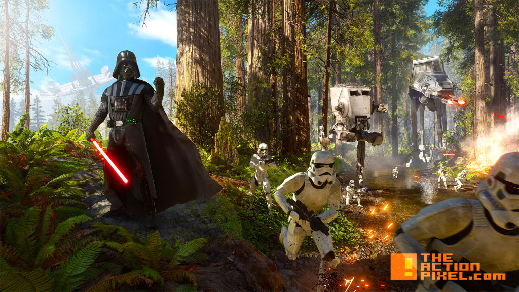 battlefront. darth vader.  star wars battlefront. ea. the action pixel. @theactionpixel. dice games.
