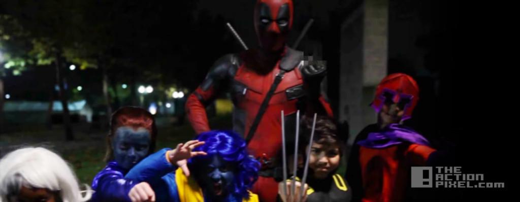 deadpool halloween viral video. ryan reynolds. fox. the action pixel. marvel. @theactionpixel