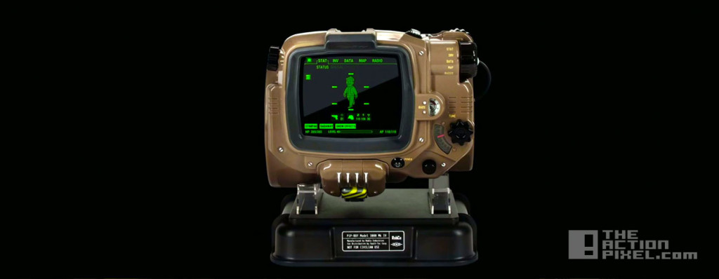pip-boy. fallout 4. the action pixel. @theactionpixel. bethesda softworks.