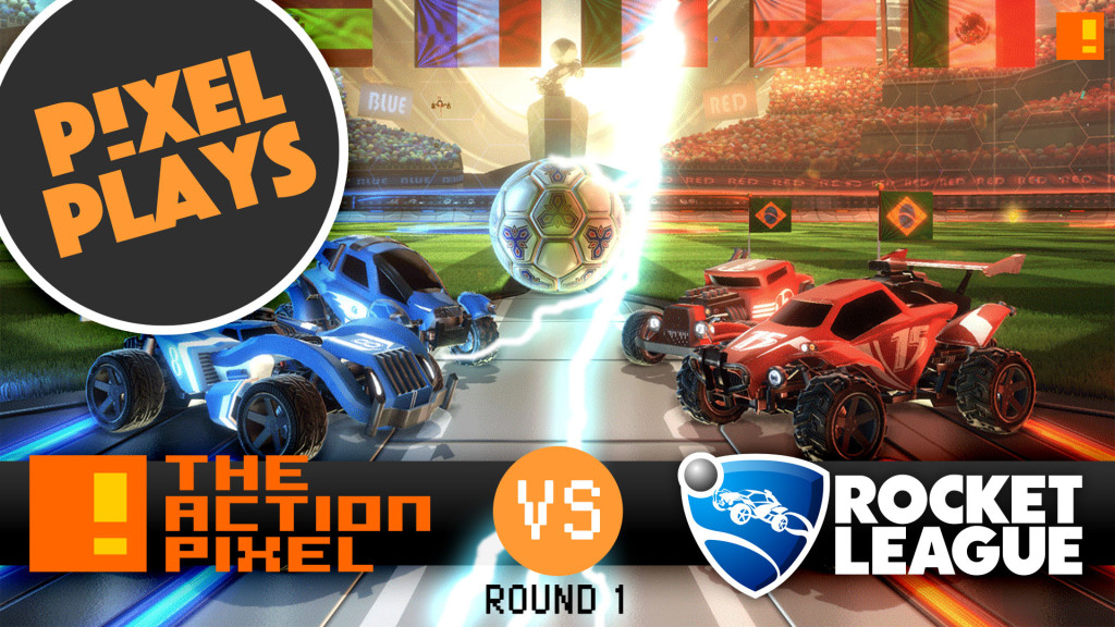 pixel play: tap vs the all star bots. ROCKET LEAGUE. entertainment on tap. the action pixel. @theactionpixel