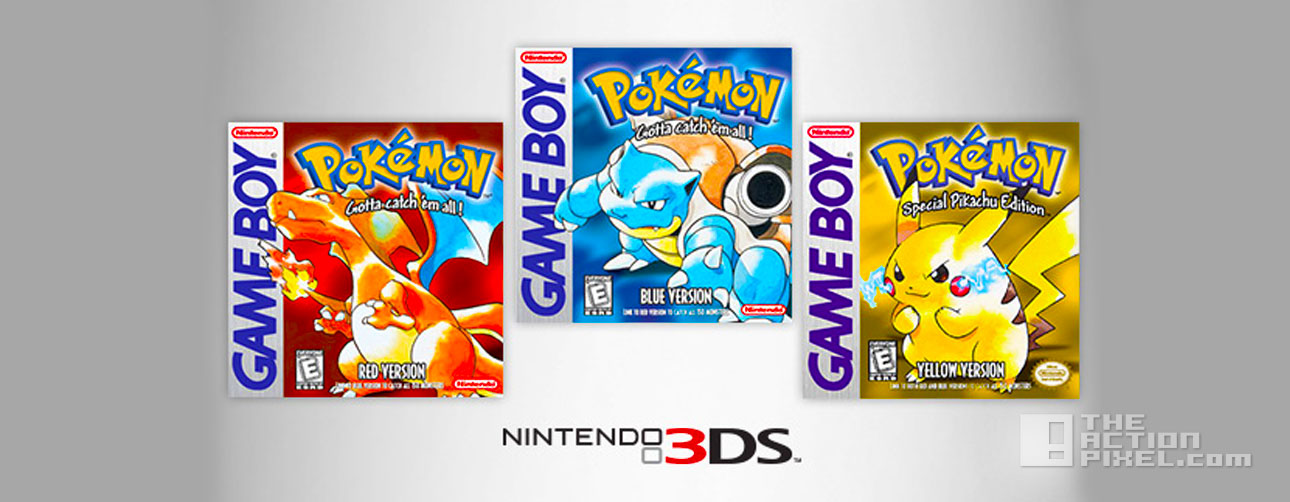 pokémon red, blue , yellow. nintendo 3ds. the action pixel. @theactionpixel