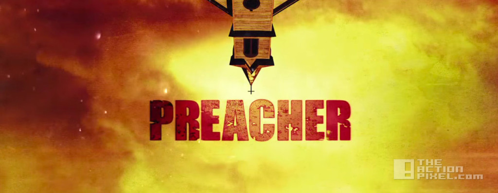 preacher. title. amc. the action pixel. @theactionpixel . dc comics. vertigo