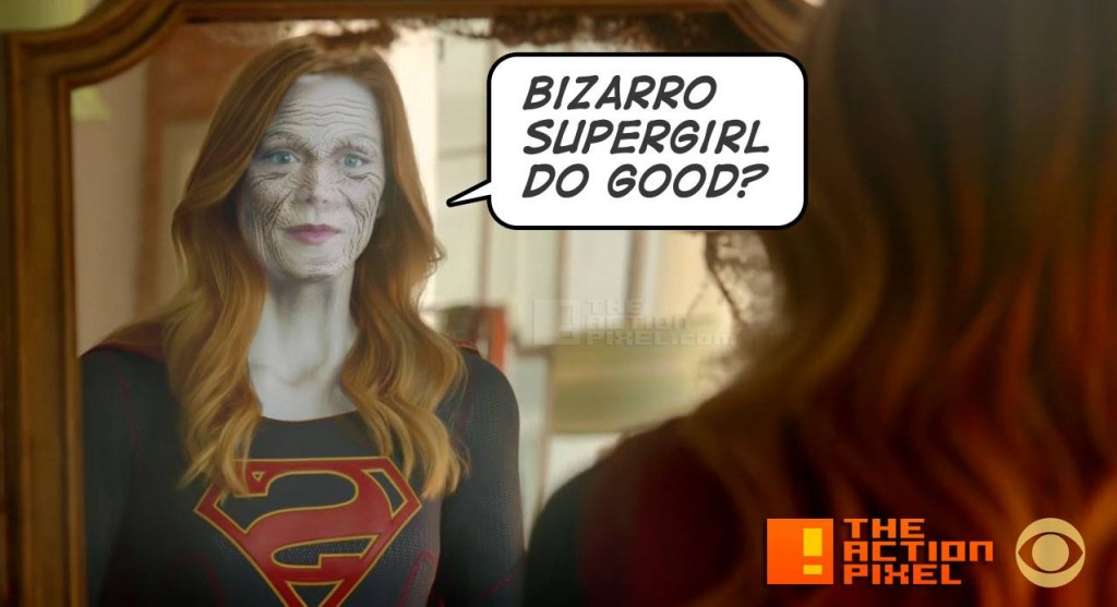bizarro supergirl. cbs. the action pixel. @theactionpixel
