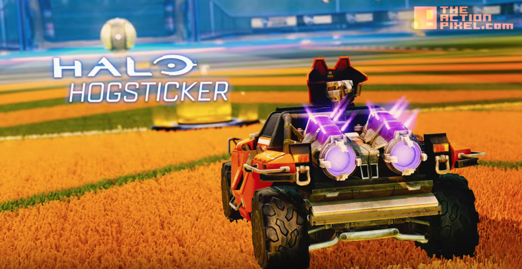 Rocket league. hogsticker. halo. xbox. the action pixel. @theactionpixel